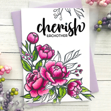 JC Rubber Stamps and Metal Cutting Dies for Scrapbooking Craft Cherish Words Cut Decoration Card Make Stencil Album Sheet