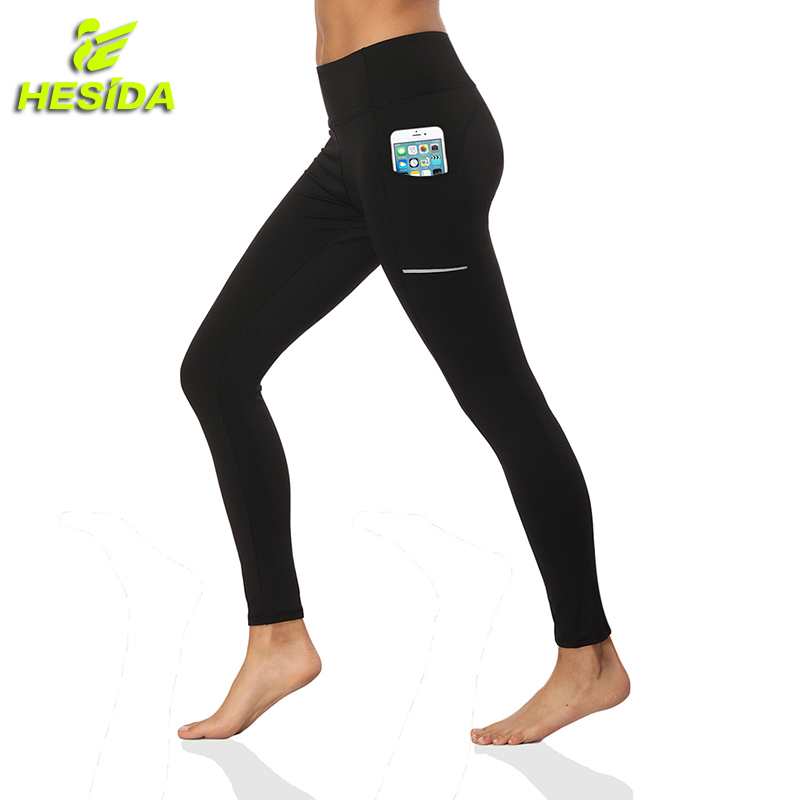 Yoga Pants Pocket High Elastic Sport Leggings for Fitness Gym Sweatpants for Women Quick Dry Training Running Sports Trousers