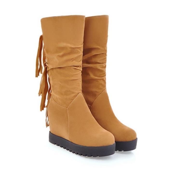 Snow Boots marrón rojo De Cómodo Cálido Botas Antideslizante naranja Y Ms 2017 Nieve 86Bqwqf