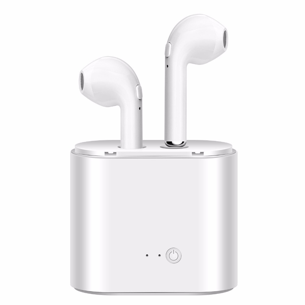 i7S TWS Wireles Earphone Mini Bluetooth V4.2 Earbuds Stereo Headset With Mic Charging Box for iphone 6 7 Samsung Android Phone a7 tws wireless bluetooth headset stereo handfree sports bluetooth earphone with charging box for iphone android pk x2t i7 i7s