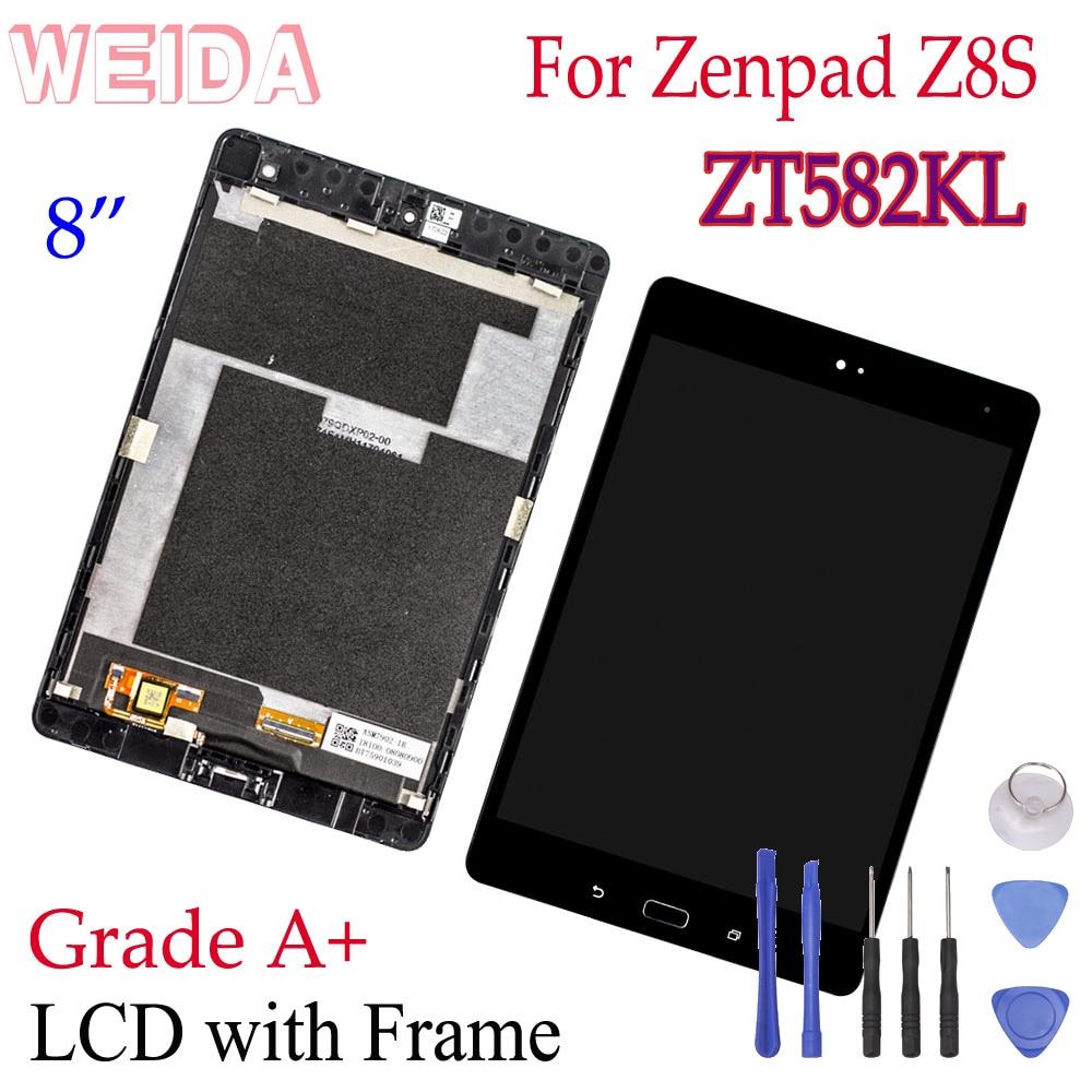 ЖК-дисплей WEIDA 8 дюймов для Asus Zenpad Z8S ZT582KL ZT582, дисплей с сенсорным экраном в сборе, рамка P00J ZT582KL, ЖК-дисплей