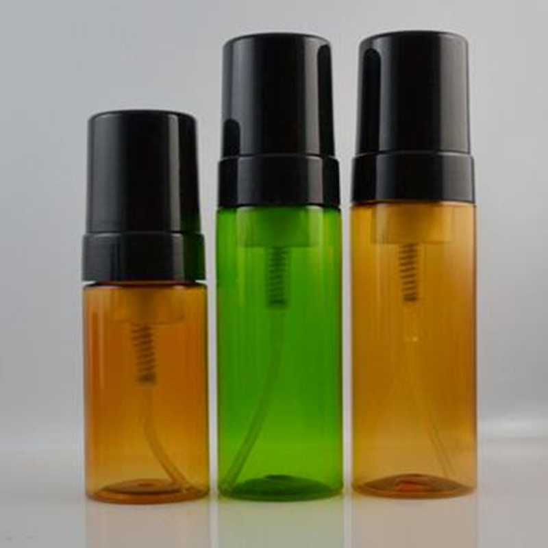 high quality 100ml 150ml amber /green bottles of bubble foam Superior mousse bottle whip ...