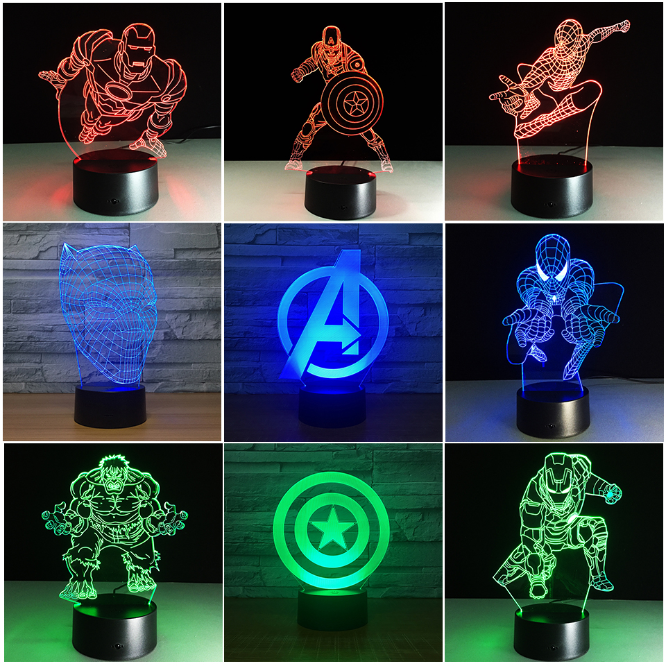 Lamp Marvel The Avengers Superhero