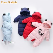 Baby boy girl Clothes 2019 New born Winter Hooded Rompers Th