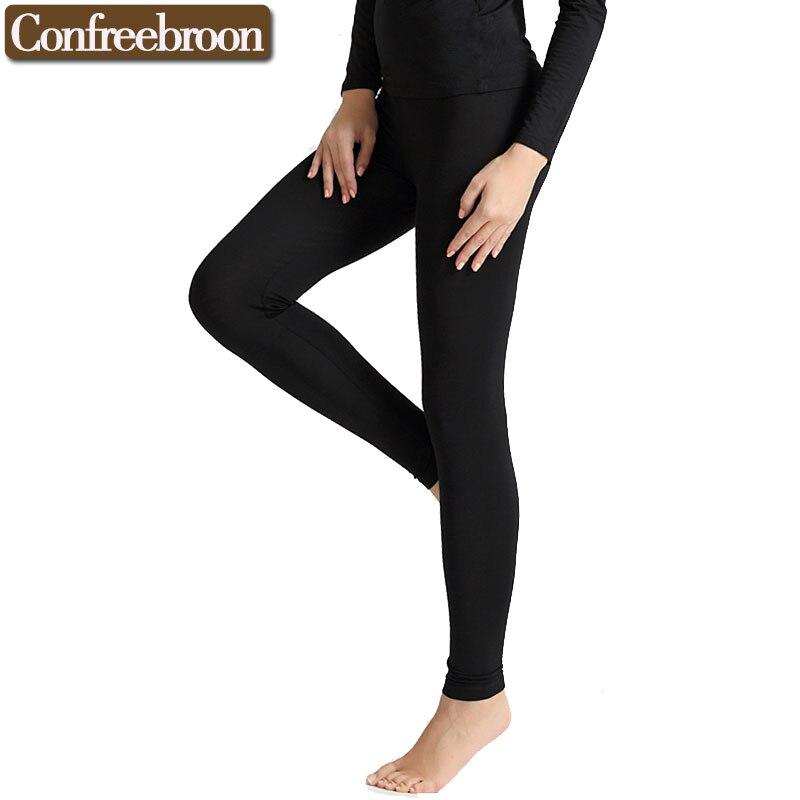 Women's Leggings Modal Soft Leggins Plus Size Elastic Female Thin Warm Pants Legins Autumn And Winter black white 712pants