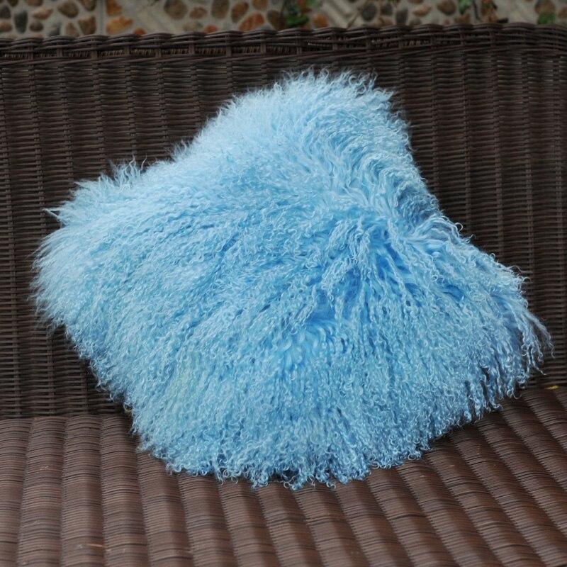 cordeiro capa de almofada de pele real