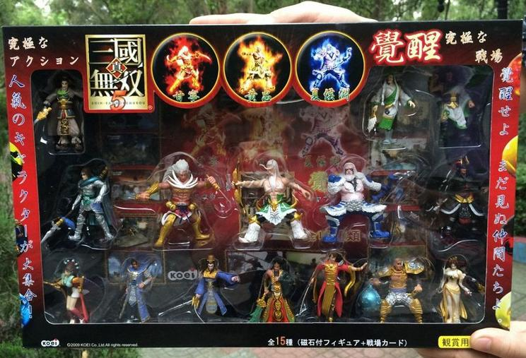 1set Gift box Online Game Dynasty Warriors 5 Action figure doll.7cm kids pvc cosplay collection gift guanyu diao chan d10