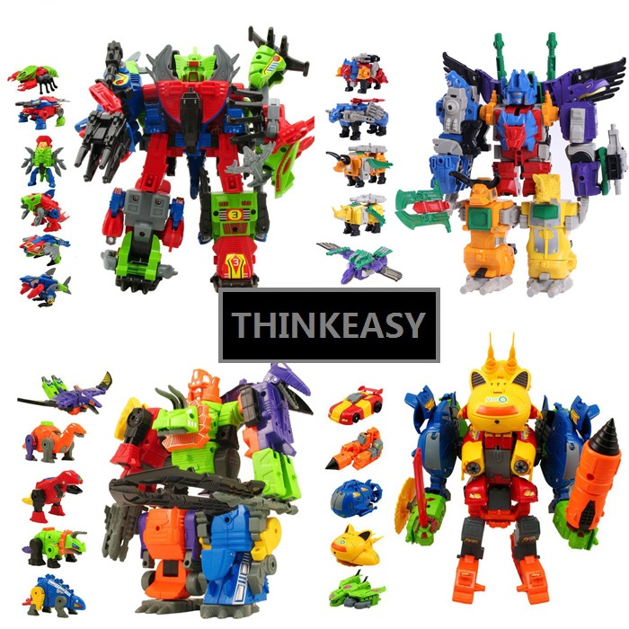 ThinkEasySuper Transformation Robots Anime Figures Set Toy For Children Gift Model Deformation Cars Transform action Figures 3 in 1 super transformation thomas and friends figure toys with package children puzzle figures for birthday gift kids toy set