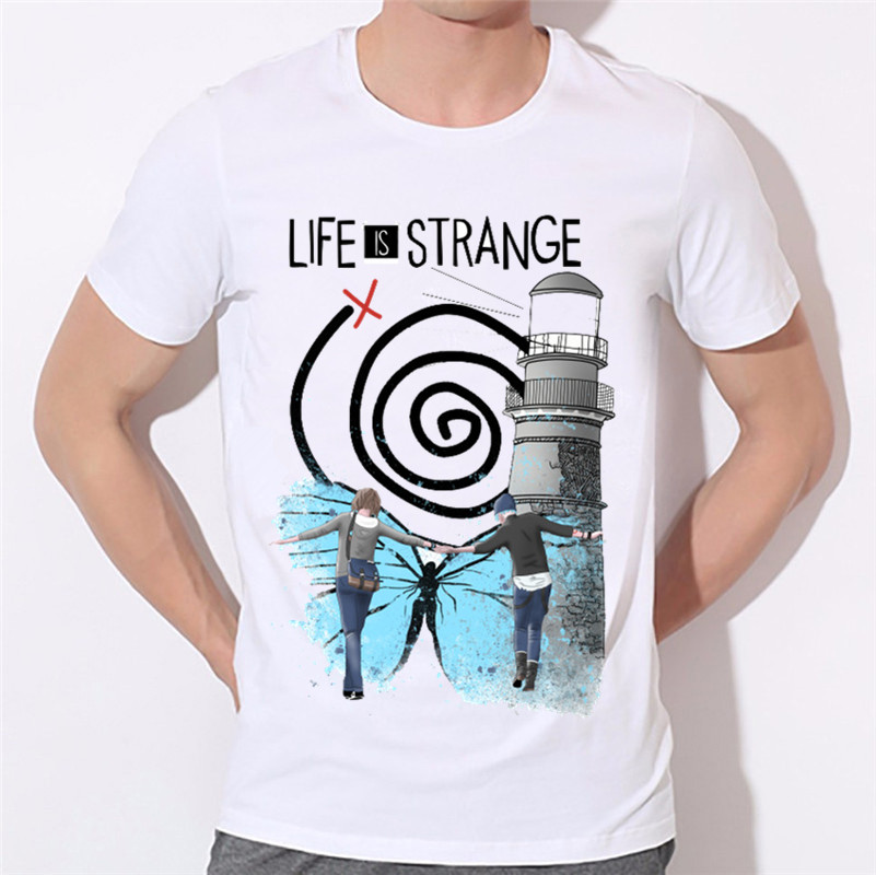 Mens Life Is Strange Design Print T-shirts Summer Short Sleeve O Neck Comic T shirts Unisex White Modal Top,Hcp1727 ...
