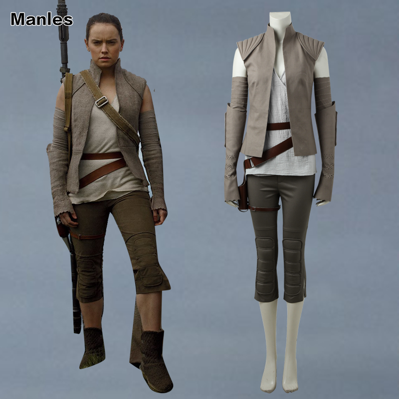 Star Wars The Last Jedi Rey Cosplay Costume Superhero Rey Outfit Halloween Carnival Clothes Movie Full Set Adult Women Customize