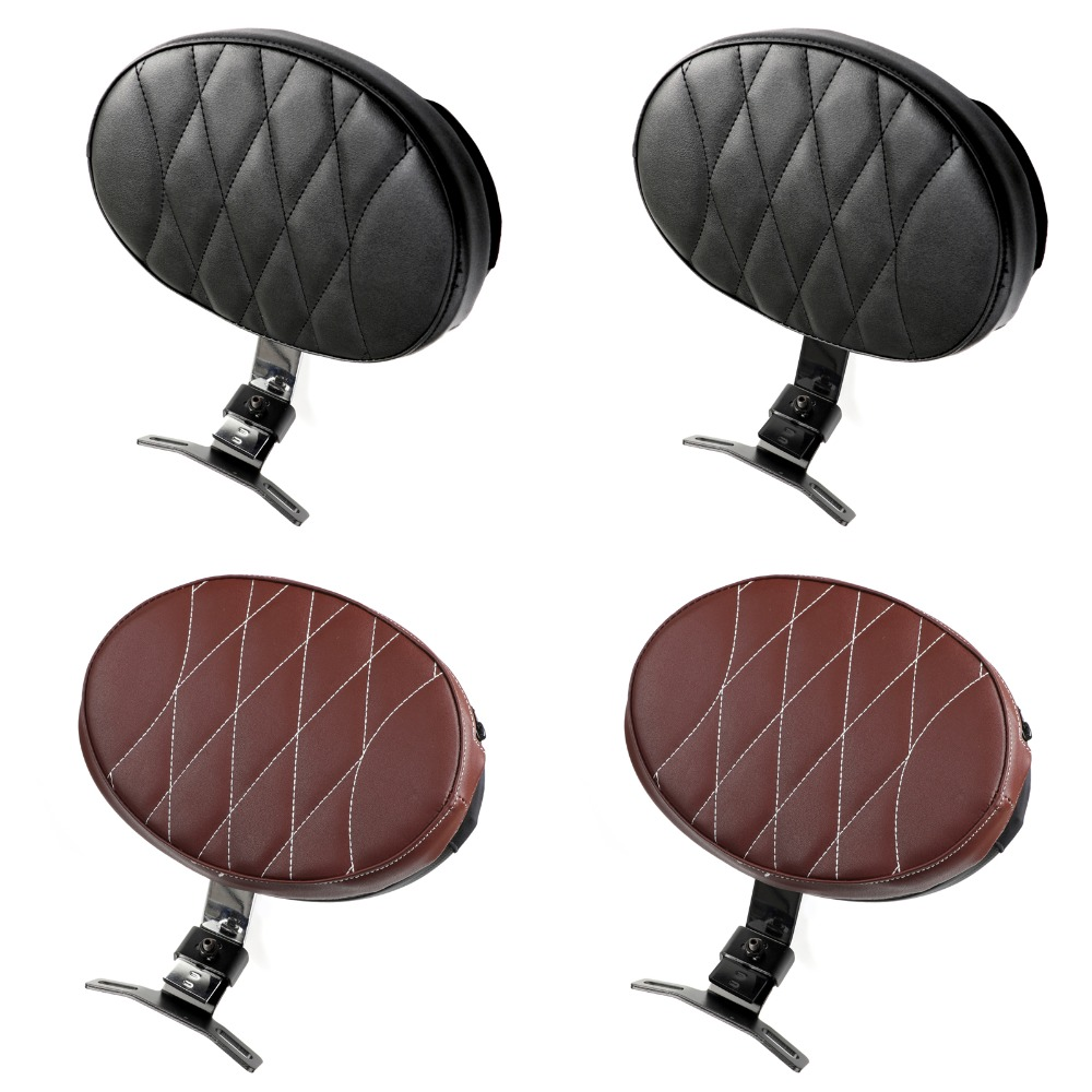 Areyourshop Motorcycle Moto Driver Rider Backrest Pad For Harley Fatboy Heritage Softail 2007-2017 Motorcycle Accessories Seat motorcycle backrest sissy bar cushion pad for 2007 2016 harley softail fatboy