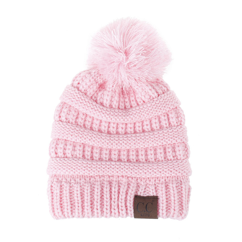 Kids CC Beanie Knitted Pom Pom Hats Winter Woolen Cap Kawaii Toddler Hats  Pompom Beanies Fashion Boys Girls Woolen Crochet Caps-in Hats   Caps from  Mother ... 2988a438fd21