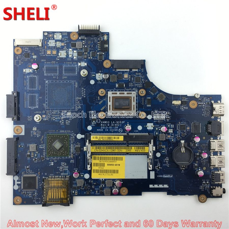 SHELI CN-02HXCX 02HXCX 2HXCX Laptop Motherboard For Dell INSPIRON M531R 5535 VAW03 LA-9103P A8-5545M 1.7Ghz System Board ноутбук dell m531 m531r 1828 a8 m431 5435 2g
