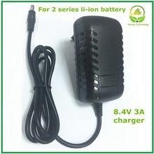 8.4V 3A 5.5x2.1mm AC DC Power Supply Adattatore di Caricabatteria Per 7.2V 7.4V 8.4V 18650 agli ioni di litio Li po Batteria di Trasporto libero
