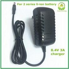 8.4v 3a 5.5x2.1mm ac dc fonte de alimentação adaptador carregador para 7.2v 7.4v 8.4v 18650 li ion li po bateria frete grátis