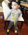 2016 Spring Autumn 1-4Y Children Girl Clothing Set Baby boys Sports banana Suit Toddler Babies Clothes Set Outfits Tracksuit