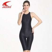 JAZERO 2018 One Piece Swimsuit Women Sexy Professional Sports Backless Body Suits Knee-length Swimwear Bathing Suit