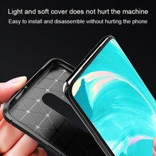 Protective case For Oneplus 7 Pro Fiber Pattern 1+7 Silicone Soft Shell TPU All-inclusive Mobile Phone Case