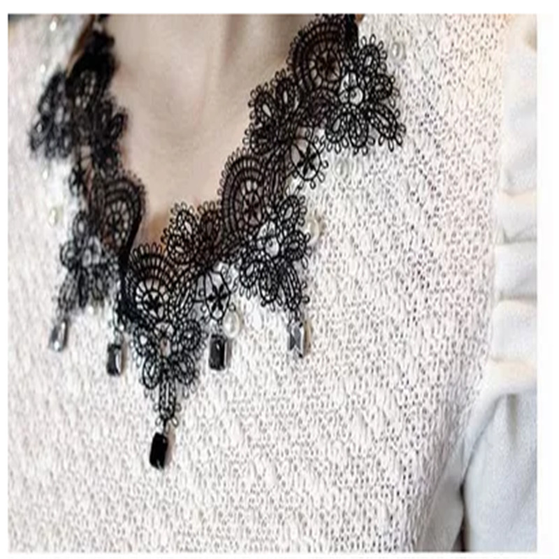 10yards 6 5cm White Black Flower Embroidery Lace for Wedding Dress Decoration DIY Sewing Accessories Craft in Lace from Home Garden