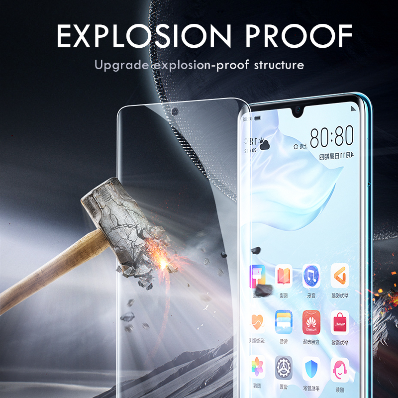 Image 2 - 25D Screen Protector Hydrogel Film For Huawei P30 Pro P20 Lite P10 Pro Lite Protective Film For Honor 8 9 10 lite Not Glass-in Phone Screen Protectors from Cellphones & Telecommunications