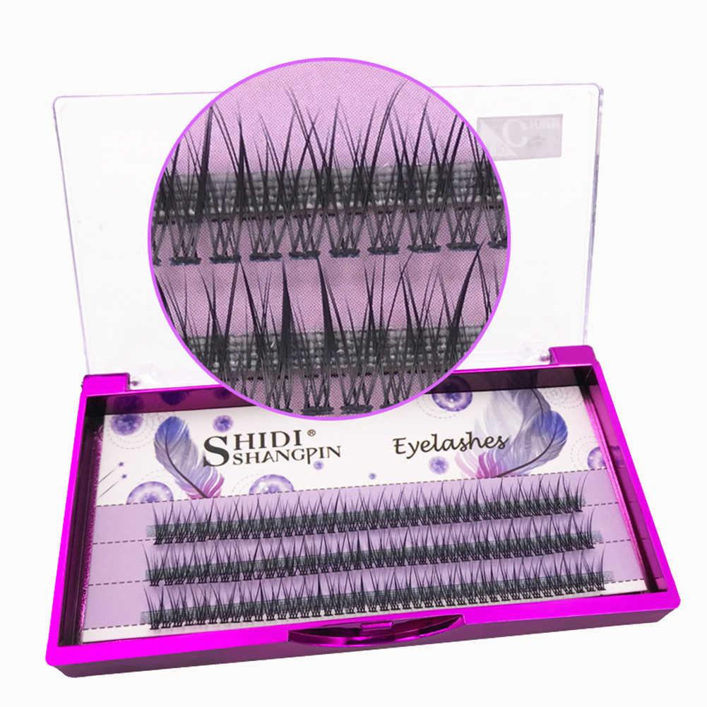 77fb60f13bc ... 8/10/12mm SHIDI Soft False Eyelashes Clusters Long Curly Grafting  Lashes Extension ...