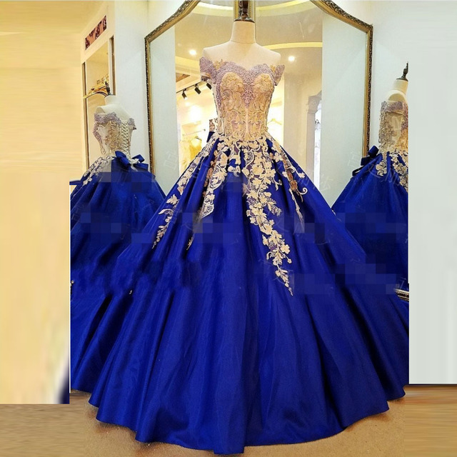 Royal Blue Evening Gown Sweetehart Evening Dresses Elegant