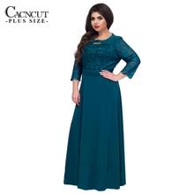 5XL 6XL New Lace Patchwork Maxi Dress Long Plus Size Vintage Ladies Evening Party Dresses Large Size 2018 Spring Robe Clothing