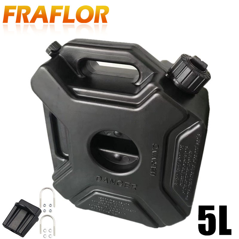Black Green Color 5L Liters Car Motorcycle Fuel Spare Plastic Petrol Tanks Jerry Can Spare Plastic