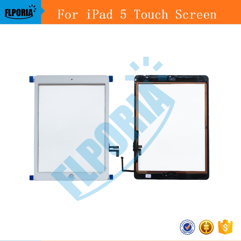 For iPad 5 Digitizer Touch Screen Front Display Glass Assembly - Includes Home Button and flex + Camera Holder Free Tools A1822 for asus zenpad c7 0 z170 z170mg z170cg tablet touch screen digitizer glass lcd display assembly parts replacement free shipping