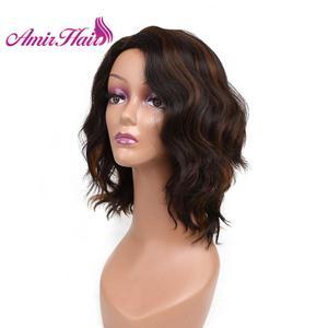 Image 4 - Amir Blond Korte Bob Synthetische Pruik Water Wave Natuurlijke Kleur Blond Pruiken Voor Vrouwen Peruca
