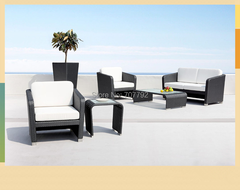Hot sale cheap outdoor wicker furniture resin lowes wicker for Sofa set for sale cheap
