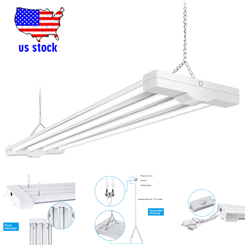 80W LED Utility Shop Lights Low Bay Ceiling Light Fixture