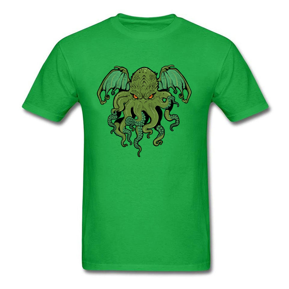 cthulhu 10992 Design ostern Day 100% Cotton Round Collar Mens Tees Summer Tee Shirt Family Short Sleeve T Shirts cthulhu 10992 green
