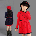 new girl dress autumn winter kids dresses for girls clothes long sleeve bow princess dresses causal children clothing