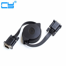 Free shipping 1M HD15Pin VGA D-Sub male to male Retractable Cable for projectors Monitors free shipping 10pcs tv monitors tube c5388 2sc5388