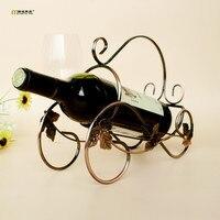 1PC Newest Iron wine rack shelf vintage wine vintage car metal crafts ornaments original design wine holder KI 2056