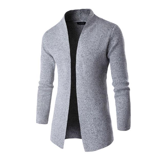 85e7d64e1 Blusas Marca de Moda Casaco 2017 Homens Gola alta Camisola Masculino Casual  Homens Cardigan Fina Camisola