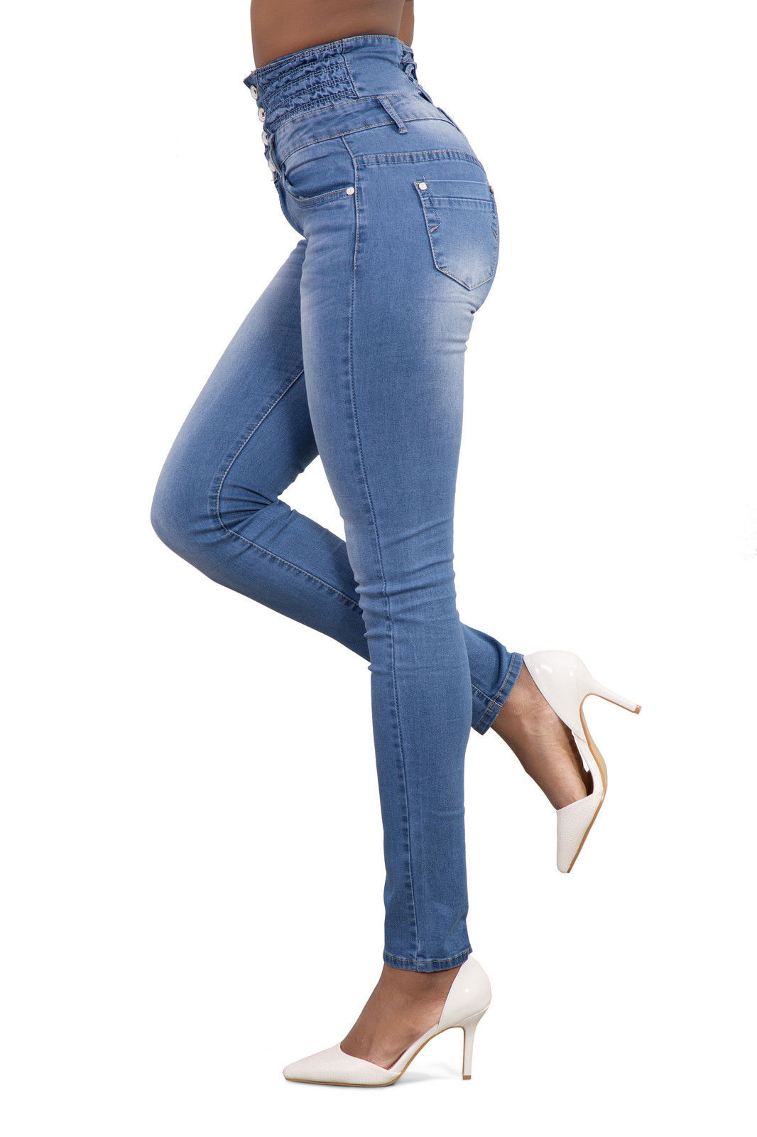 Autumn and winter women's sexy high waist Slim plus size feet   jean