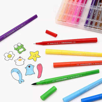 Youpin KACO ARTIST 36 Colors Double Tip Watercolor Pens Painting Graffiti Art Markers Drawing Set Non-toxic Safe Children Gift