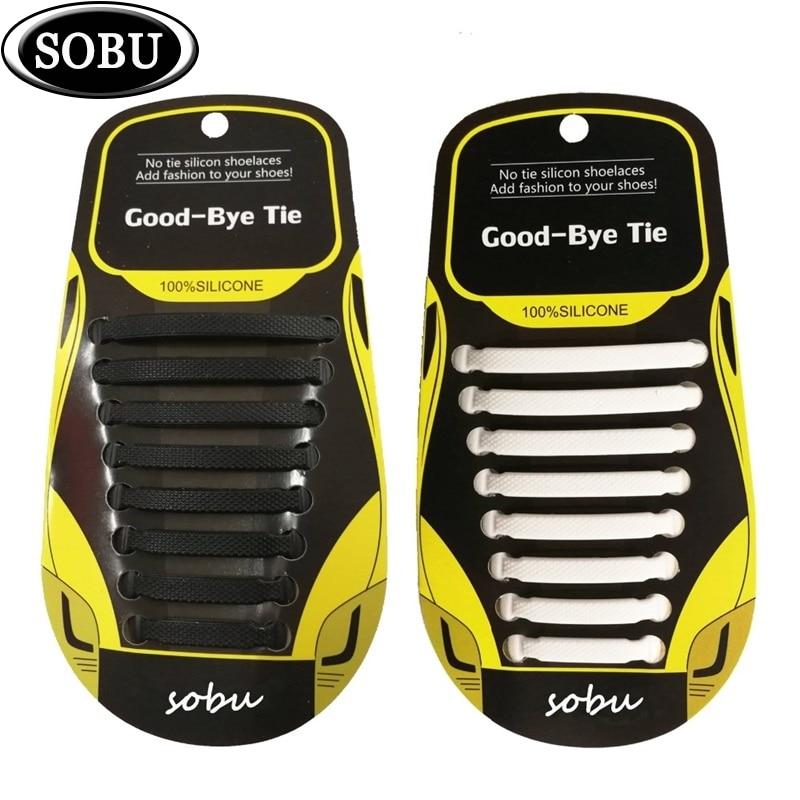 243e235c109 12 unids/pack cordones de zapatos de silicona elástica Unisex sin corbata  para hombre y mujer g005
