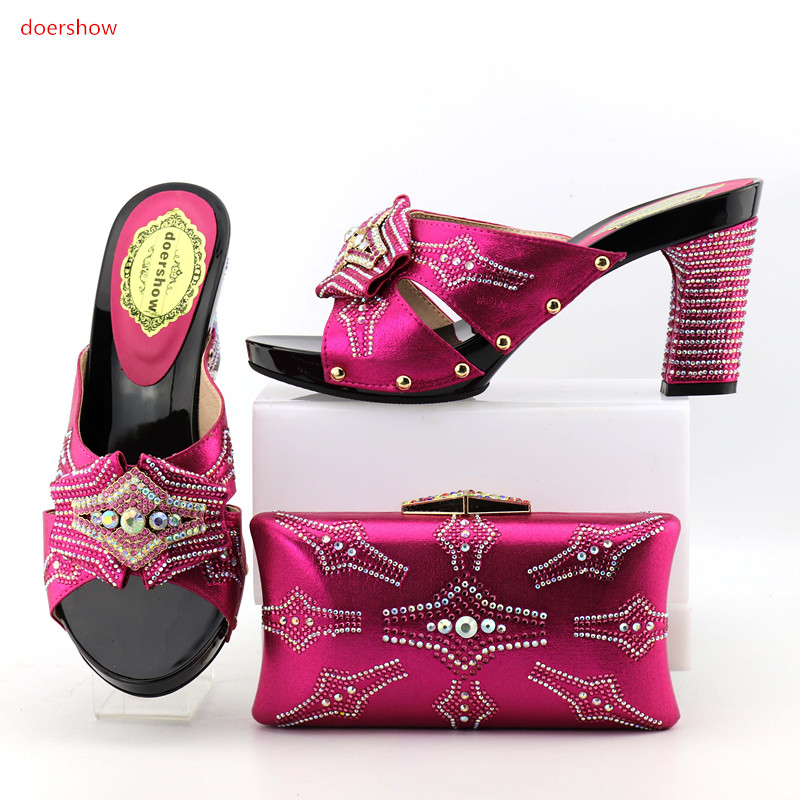 doershow  African Shoes and Bag Sets Italian Shoes Matching With Bags High Quality Women Shoes And Bags To Match For party OP1-5doershow  African Shoes and Bag Sets Italian Shoes Matching With Bags High Quality Women Shoes And Bags To Match For party OP1-5