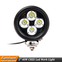 40W 5'' inch LED WORK LIGHT 12V 24V Round OFFROAD AUTO SUV 4X4 TRUCK ATV 4WD AWD MOTORCYCLE TRACTOR REVERSE LAMP HEADLIGHT x1pc