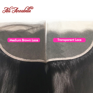 """Image 3 - ALI ANNABELLE HAIR Brazilain Loose Wave 13x4 Lace Frontal Remy Human Hair Transparent Lace Frontal/Medium Brown 130% 10"""" 20"""""""