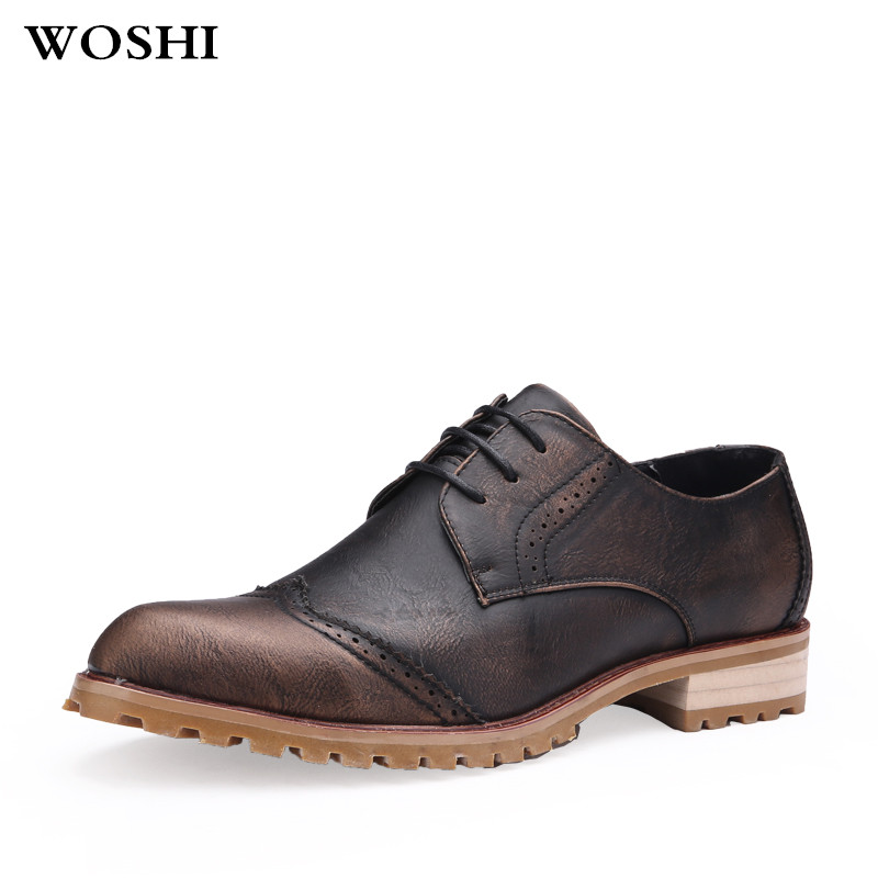 Brand Formal business Dress fashion Men Shoes Genuine Leather Classic Office Wedding Mens Casual Oxford Italian Shoes For Men 45 цены онлайн