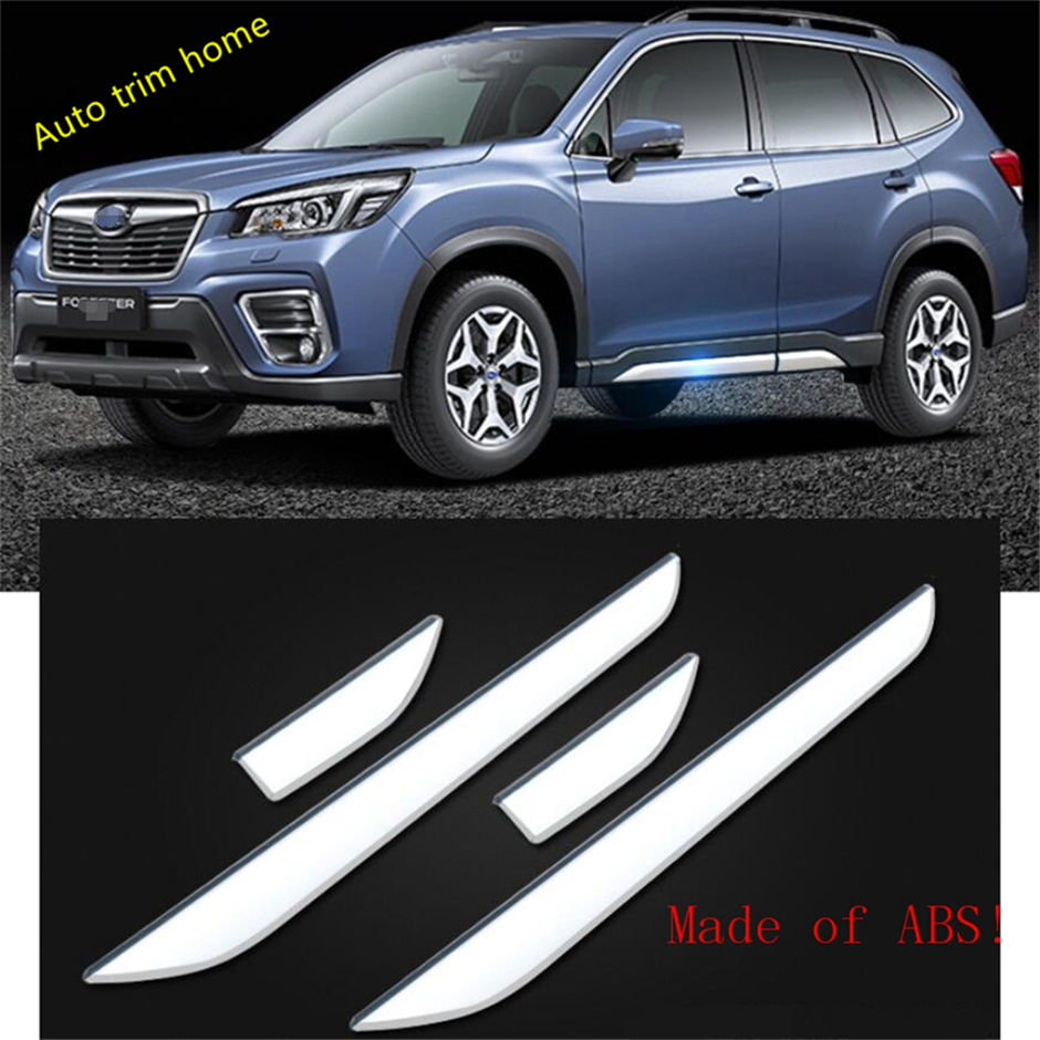 Lapetus Outside Car Door Body Molding Bottom Molding Garnish Cover Trim 4 Piece Fit For Subaru Forester 2019  ABS