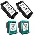 4PK, Ink Cartridges for HP 130 134 hp130 hp134 Officejet K7100 K7103 K7108 Deskjet 6940 6940dt 6943 6980 6980dt 6980xi 6983 6988