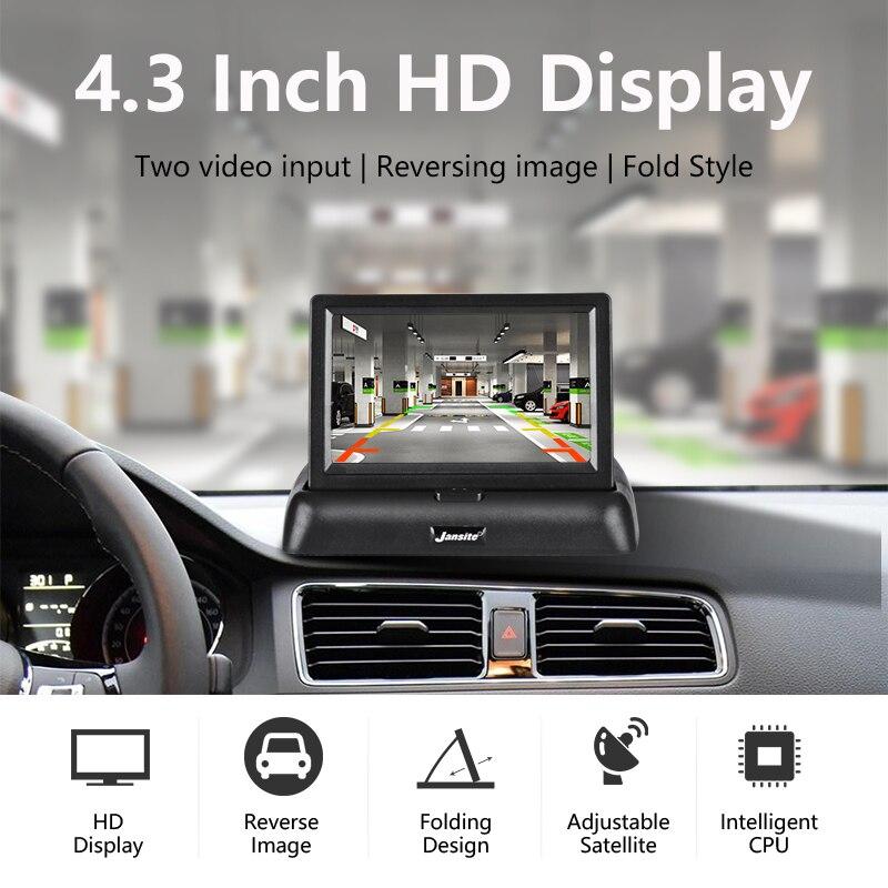 """Jansite 4,3"""" automonitori TFT LCD auto tahavaatekaamera varundamine  1"""
