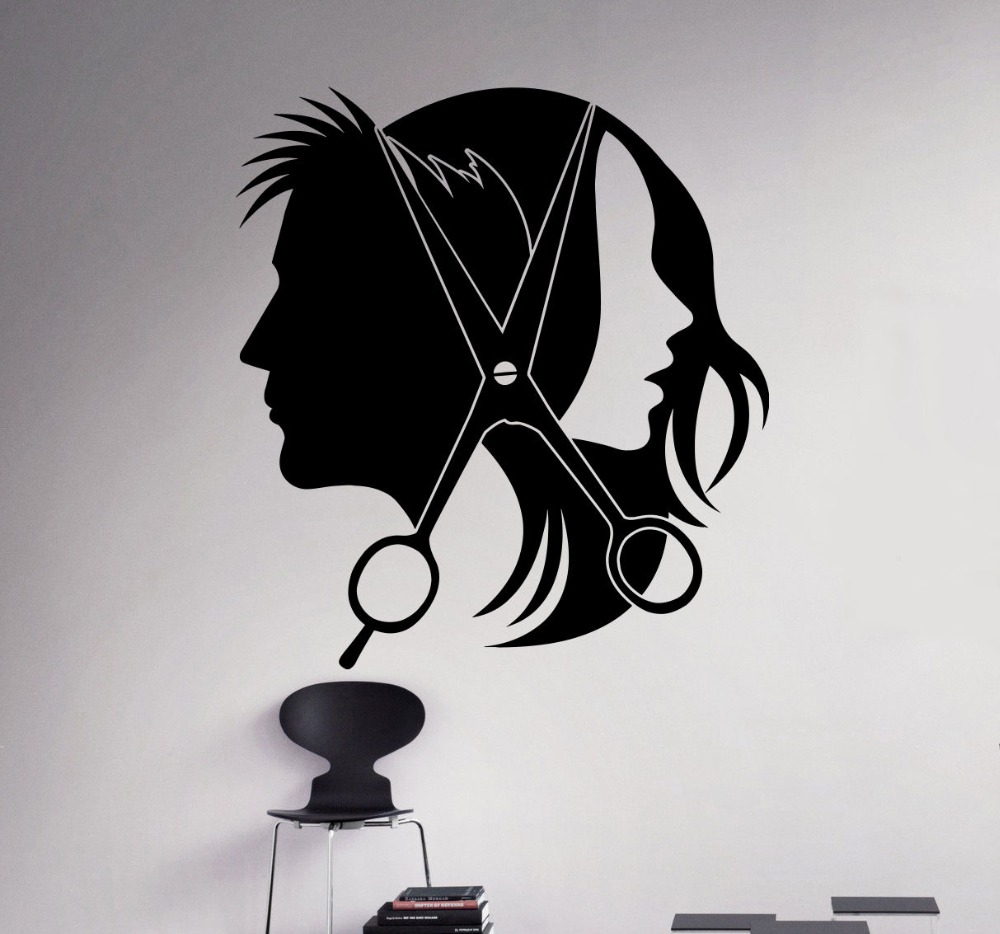 hair salon barber wall decal