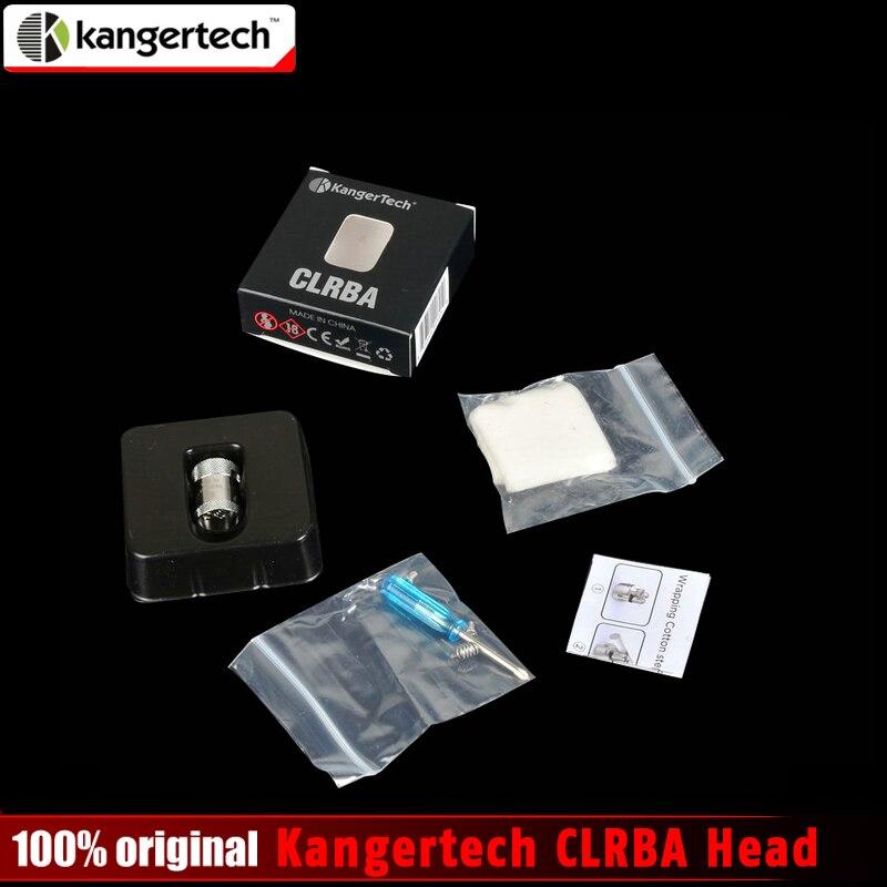 Ursprüngliche Kangertech CLRBA Kopf Holt Spule mit Bio-baumwolle und Kanth Draht für Kanger Cupti Kit und Cltank Kit RBA spule