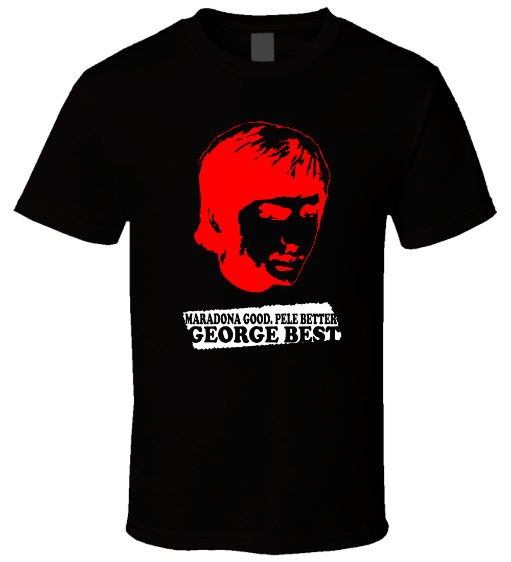 George Best 1 Black T Shirt 100% Cotton For Man,T shirt printing ,Hip Hop Tee Shirt,NEW ARRIVAL tees Summer Men'S fashion Tee image
